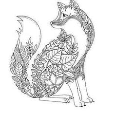 Fox Adult Coloring Page Coloring Adult