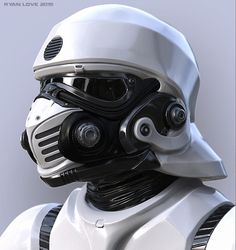 I really loved the new star wars movie so I was inspired to do my own take on a trooper type helmet. Fin commented about the storm troopers helmets being vulnerable to poison gas. I wanted to make a trooper helmet that would protect against Helmet Armor, Suit Of Armor, Body Armor, Custom Helmets, Future Soldier, Sci Fi Armor, Helmet Design, Star Wars Characters, Motorcycle Helmets