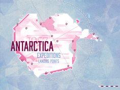 Antartica Map on Behance
