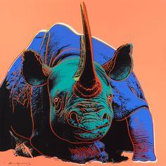 purnsz:Black Rhinoceros (from Endangered Species), Andy Warhol, 1983