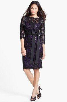 Tadashi Shoji Embellished Lace Dress (Petite) on shopstyle.com