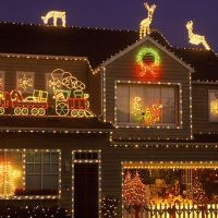Beautifully Decorated Home at Christmas