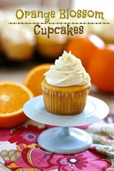 Orange Blossom Cupcakes  #recipe at thehungryhousewife.com