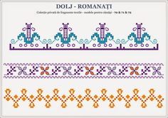 Semne Cusute: din OLTENIA Beading Patterns, Knitting Patterns, Popular Costumes, Folk Embroidery, Folk Fashion, Stitch Design, Hama Beads, Romania, Pixel Art