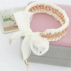 metalen ketting doek armband – USD $ 5.99