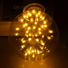 E27 G80 3W 47-LED Decorative Bulb Warm White 3000K 130lm (AC 220-240V)
