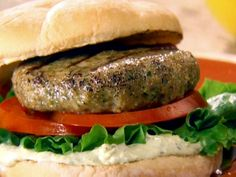 """Mexican Shrimp """"Burgers"""" recipe from Marcela Valladolid via Food Network"""