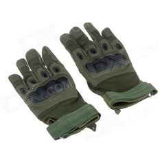 Stylish Tactical Protective Full-Finger Gloves - Army Green (Pair / Size-M) Price: $12.90