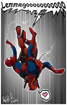 #Deadpool #Fan #Art. (SpideyPool) By:AnnaGiladi. (THE * 5 * STÅR * ÅWARD * OF: * AW YEAH, IT'S MAJOR ÅWESOMENESS!!!™)[THANK U 4 PINNING!!!<·><]<©>ÅÅÅ+(OB4E)