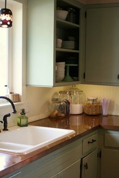 I'd love to have a copper sink but never even thought about doing copper counter tops.