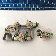 bridesmaids 를 위한 꽃팔찌  #오블리크플라워디자인 #obliqueflower