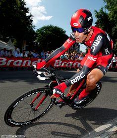 Tour de France (2012) Photos; Stage 0: Liége 6.4 km Prologue - 22nd George HINCAPIE (BMC Racing) + 0:20 setting a record with his 17th Tour de France start