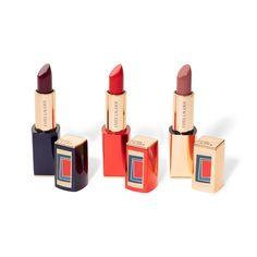 Winter Lipstick, Estee Lauder Pure Color, Makeup News, Lipstick Set, Lipstick Collection, Design Case, Geometric Shapes, Makeup Inspiration, Vivid Colors