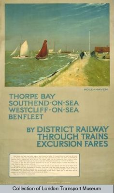 Thorpe Bay, Southend, Westcliff, Benfleet   District Railway poster
