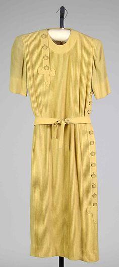 Designer: Mme. Eta Hentz (American, born Hungary) Date: 1943 Culture: American Medium: Synthetic