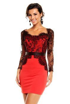 4f40d32f1e0 Nouveautés Robes courtes · Robe de cocktail tendance chic pas cher robe de cocktail  Rouge Noir TM-WJ-