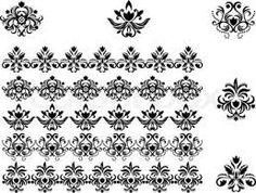 Картинки по запросу черно белые бордюры для декупажа