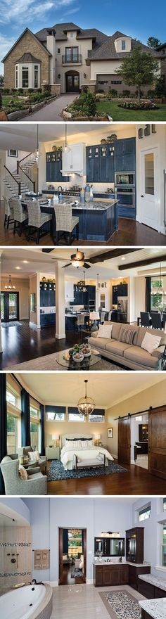 The Gabriel is a new home in Sienna Plantation. The central courtyard and beautiful blue kitchen are perfect for entertaining. Relax in the Owner's Retreat and luxurious spa bath at the end of a long day.