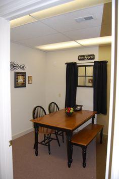 Doctor's office breakroom:  Faux window!!!