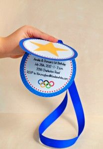 Image result for blue and gold olympic invitation