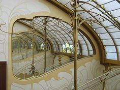 Interior glass, Horta Museum, Brussels, art nouveau