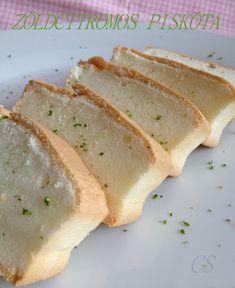 ZÖLDCITROMOS PISKÓTA (glutén-, liszt-, fehér cukormentes) – Chez Sandra