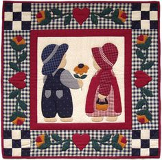 Best Friends Quilt Kit-22 X22 friends, pattern, sunbonnet sue, quilt kits, quilts, friend quilt