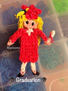 Rainbow Loom Graduation Doll