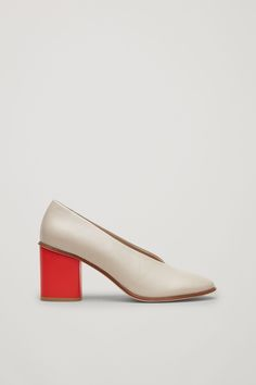 COS image 6 of Chunky heel pumps in Sand
