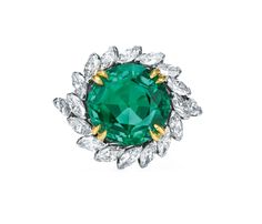 Harry Winston Vintage Emerald and Diamond Ring