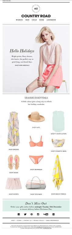 Country Road - Your perfect beach wardrobe - just add water