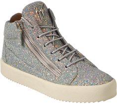 681c35e8c67f4 Giuseppe Zanotti Glitter Leather High-Top Sneaker High Tops, High Top  Sneakers, Shoes