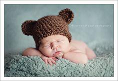 Akron Newborn Photography - Brown bear hat