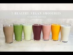 Ah, smoothies. If there's something I crave on a daily basis, it's healthy vegan smoothies. I think of smoothies are salads with the taste of a dessert. Smoothie Prep, Vegan Smoothies, Juice Smoothie, Smoothie Recipes, Breakfast Smoothies, Gourmet Recipes, Vegan Recipes, Anti Inflammatory Recipes, Exotic Food
