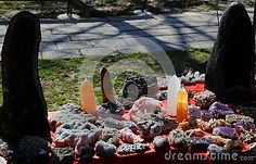 Photo about Quartz - quartz stones of various kinds and sizes displayed on the table. Image of shiny, marbled, glassy - 69296424 Quartz Stone, Vectors, Stones, Sign, Display, Stock Photos, Abstract, Outdoor Decor, Table