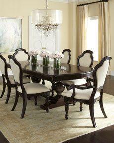 Formal Dining Dinning Room Sets, Formal Dinning Room, Formal Dining Tables, Dining Room Table Decor, Dining Room Furniture, Elegant Dining, Formal Dining Table Centerpiece, Beautiful Dining Rooms, House Ideas