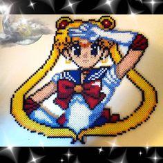 Sailor Moon perler beads by realrecognizeleal perler,hama,square pegboard,cute,kawaii,