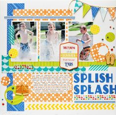 Splish Splash *Queen and Company* - Scrapbook.com - Made with Queen & Company supplies.