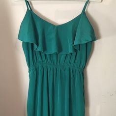 Turquoise Maxi Dress Super cute can be worn as something casual or be dressed up! From Nordstrom's and gently worn Dresses Maxi