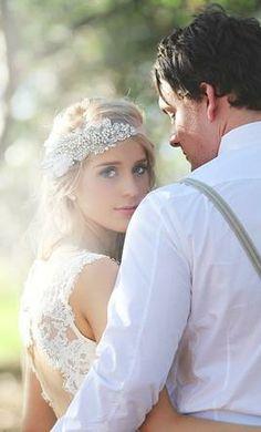 Wedding Dress Accessories - Tiara/Hair Accessory Doloris Petunia Petal Bandeau - Mini $250 USD - Used