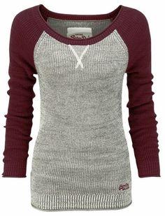 thermal baseball sweater shirt.