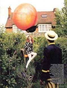 hot peach balloon