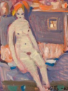 Kai Fjell - kvinne på sengekanten