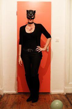 Mottoparty Helden der Kindheit Catwoman Kostüm