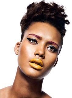 makeup! beauty editorial, chrishel stubb, beauty makeup, brown skin, color combinations, lip colors, makeup looks, lip colour, party makeup