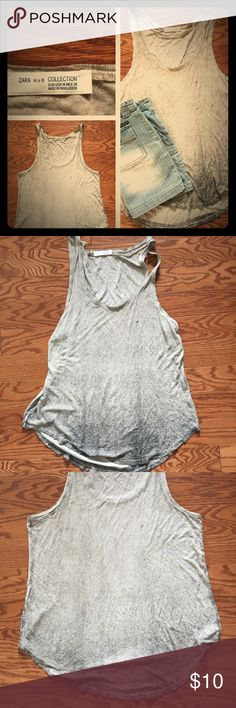 Zara W&B Collection Tank Top Zara W&B Collection. Tanks top. Size Medium. Cream gray color. Pre-owned in great condition with no known tears snags or stains. Please feel free to ask any questions. Thanks! Zara Tops Tank Tops