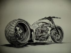 Hardcore Choppers (17 hours continuos sketch) - Sketching by Umer Nadeem in My Drawings... at touchtalent 24109