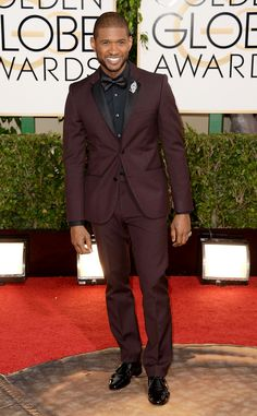 Usher in Calvin Klein Collection at 2014 Golden Globes