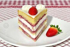 Mascarpone & fruits cake (CC Eng Sub) Sweets Recipes, Fruit Recipes, Cake Recipes, Cooking Recipes, Romanian Desserts, Romanian Food, Food Cakes, Cupcake Cakes, Good Food