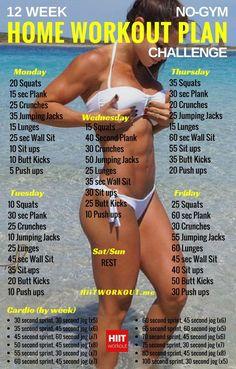 12-Week No-Gym Home Workout Plan